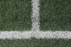 Artificial turf with white lines Royalty Free Stock Photography