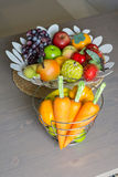 Artificial vegetables and fruits Stock Photo