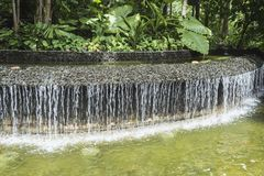 Artificial water cascade Royalty Free Stock Photography