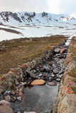 Artificial water ditch for melting snow in Erciyes mountains, Tu Royalty Free Stock Image