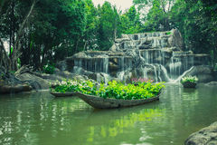 Artificial Water fall Park Stock Image