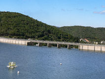 Artificial water reservoir Royalty Free Stock Images
