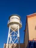 Artificial water tower in Hollywood Studios at Disney California Adventure Park. ANAHEIM, CALIFORNIA - FEBRUARY 15: Artificial water tower in Hollywood Studios Stock Photo