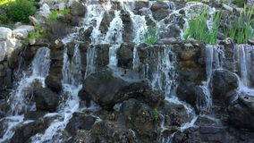 Artificial waterfall stock footage