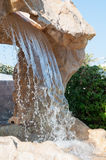 Artificial Waterfall in the Gardens of a Luxury Resort Hotel Stock Photography