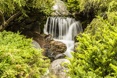 Free Artificial Waterfall In Dow Gardens, Michigan Royalty Free Stock Image - 56288746