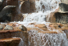 Artificial waterfall. Royalty Free Stock Photo