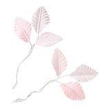 Artificial wedding leaves Stock Photo