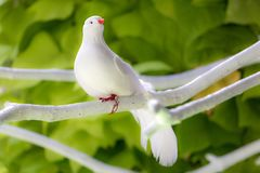 Artificial white bird Stock Images