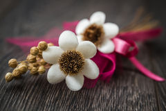 Artificial White, Pink Flower Bouquet Royalty Free Stock Images