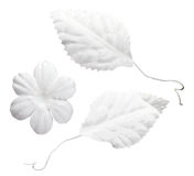 Artificial white wedding flowers Stock Photography