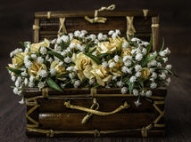 Artificial White, Yellow Flower Bouquet Royalty Free Stock Images