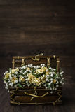 Artificial White, Yellow Flower Bouquet Stock Images