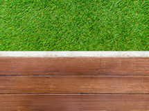 Artificial wood floor Stock Photography