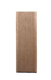Artificial wood plank. Isolated plank of artificial wood Stock Photo