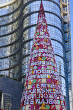 Artificial Xmas tree at business hub #3, Milan Royalty Free Stock Photo