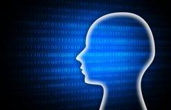 Artificiale intelligente blu immagine di sfondo dell'illustrazione Immagine Stock Libera da Diritti