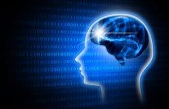 Artificiale intelligente blu immagine di sfondo dell'illustrazione Fotografie Stock Libere da Diritti