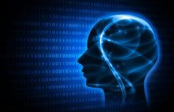 Artificiale intelligente blu immagine di sfondo dell'illustrazione Fotografia Stock Libera da Diritti