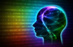Artificiale intelligente blu immagine di sfondo dell'illustrazione Immagini Stock Libere da Diritti