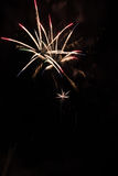 Artificiales dos fogos-de-artifício-Fuegos Fotografia de Stock Royalty Free