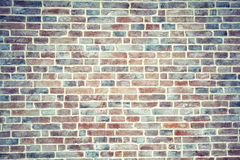 Artificially aged brick wall background Stock Photos