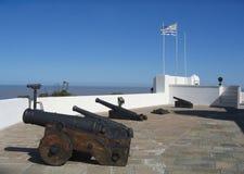 artigas堡垒蒙得维的亚有战略意义的乌拉圭 免版税库存照片