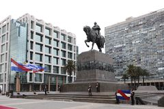Artigas Monument at Plaza Independencia Montevideo Royalty Free Stock Photos