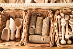Artigianal drewna przedmioty Fotografia Royalty Free