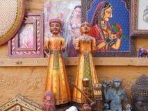Artigianato d'elaborazione di legno del locale della statua Fotografia Stock