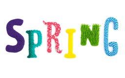 Artigianato della primavera di parola delle lettere Fotografia Stock Libera da Diritti