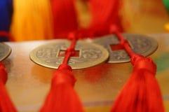 Artigianato fatti delle monete cinesi antiche immagine stock libera da diritti