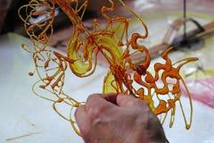 Artigianato pieghi cinesi, pittura dello zucchero Immagini Stock Libere da Diritti