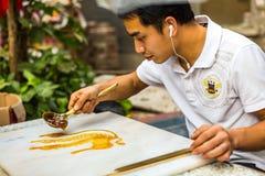 Artigianato pieghi cinesi, pittura dello zucchero Immagini Stock