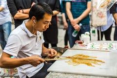 Artigianato pieghi cinesi, pittura dello zucchero Immagine Stock