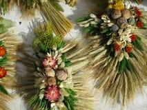Artigianato secchi dei fiori sul festival della cipolla a Weimar Fotografia Stock Libera da Diritti
