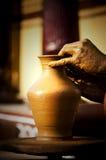 Artigiano che fa un vaso Fotografia Stock