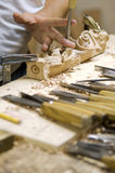 Artigiano del legno Immagini Stock