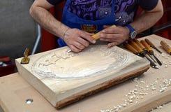 Artigiano di legno Immagini Stock