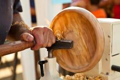 Artigiano: tornio Fotografia Stock