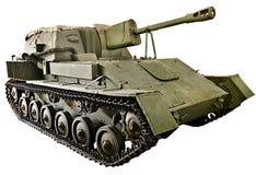 Artiglieria automotrice SU-76M del carro armato sovietico isolata Immagine Stock Libera da Diritti