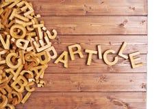 Artigo da palavra feito com letras de madeira Imagens de Stock Royalty Free