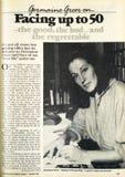 Artigo de Germaine Greer da revista semanal de 1986 mulheres australianas fotos de stock