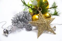 Artigo decorado da árvore de Natal foto de stock