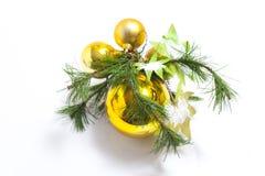Artigo decorado da árvore de Natal imagens de stock