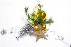 Artigo decorado da árvore de Natal imagem de stock