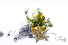 Artigo decorado da árvore de Natal fotografia de stock