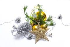 Artigo decorado da árvore de Natal foto de stock royalty free