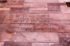 Artigo do texto de Magna Carta foto de stock