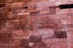Artigo do texto de Magna Carta fotografia de stock